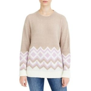 J. Crew Geometric Fair Isle Crewneck Sweater 2XL